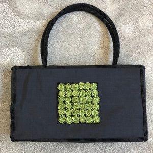 Shira Leah Chicago Beaded Rosette Bag EUC